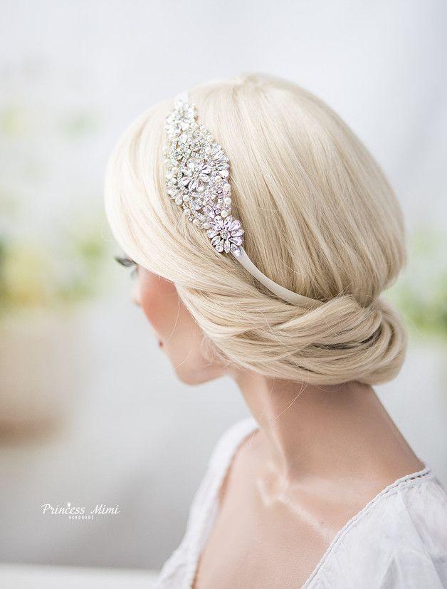 Braut haarschmuck strass  Braut Haarschmuck Perlen Strass Haarband Hochzeit | Die braut ...