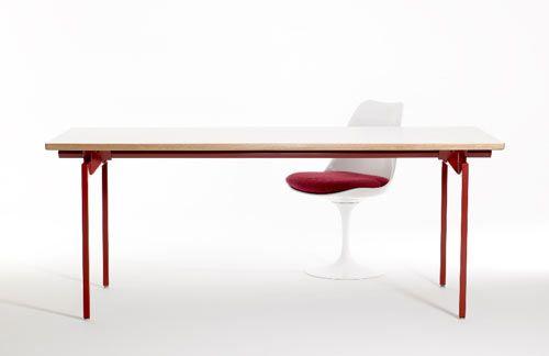 Antenna Desk By Knoll Design Milk Knoll Furniture Modern Table Design Milk