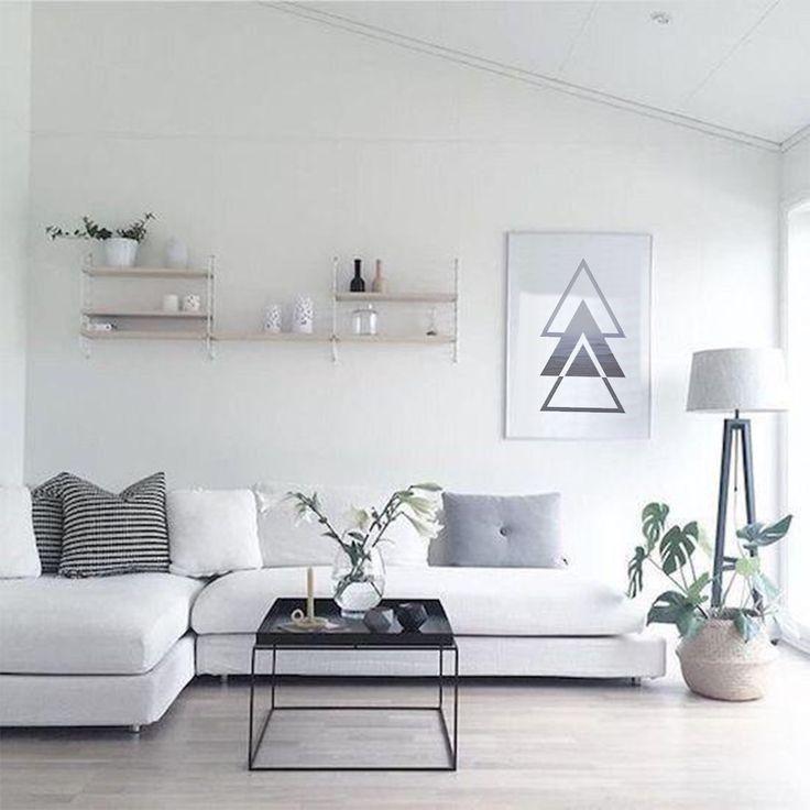 Triangles Nature Ocean Print Ocean Wall Art Geometry Art Etsy In 2021 Modern Apartment Decor Minimalist Apartment Decor Minimalist Living Room