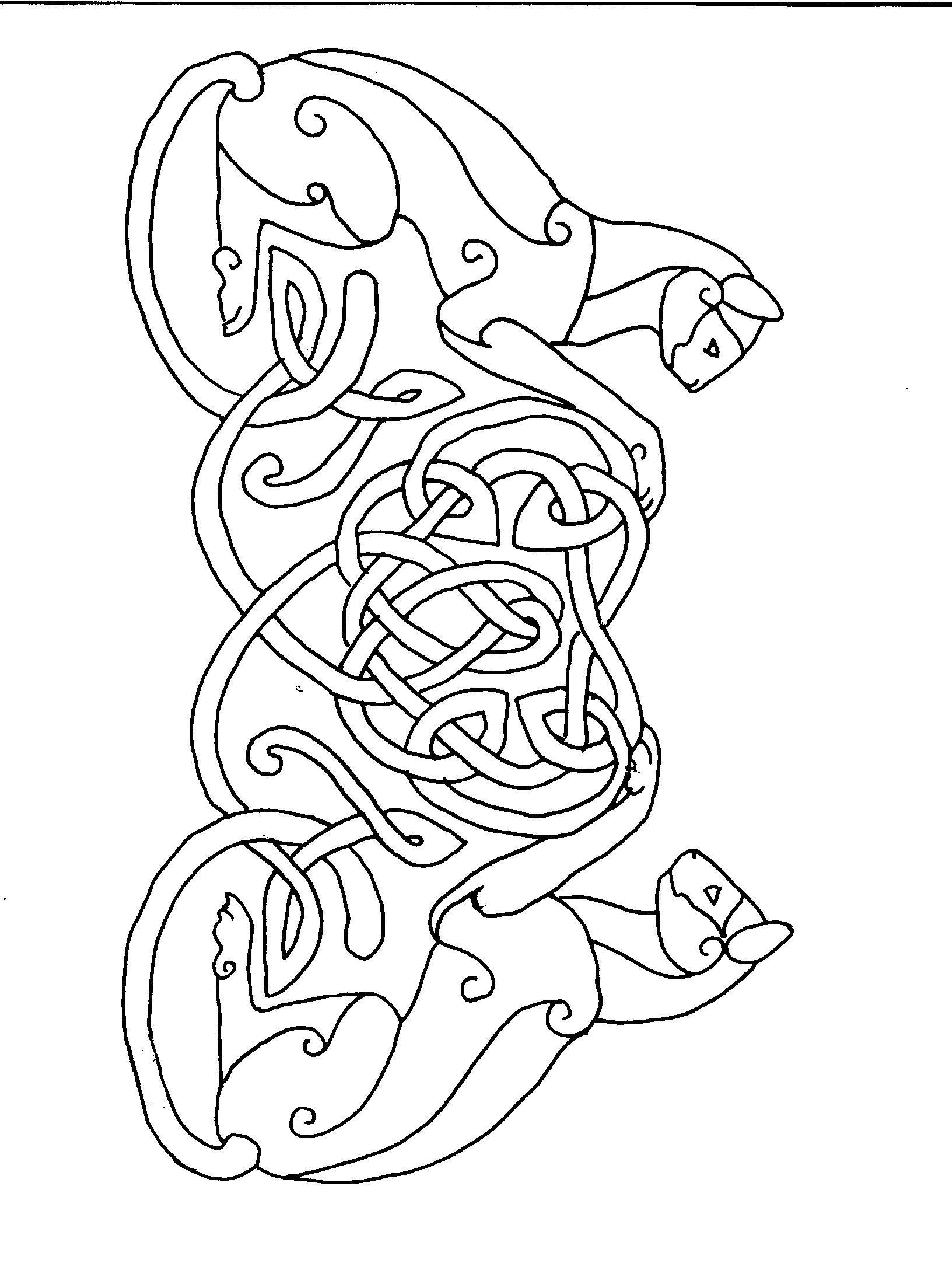 cat celtic coloring pages - photo#5