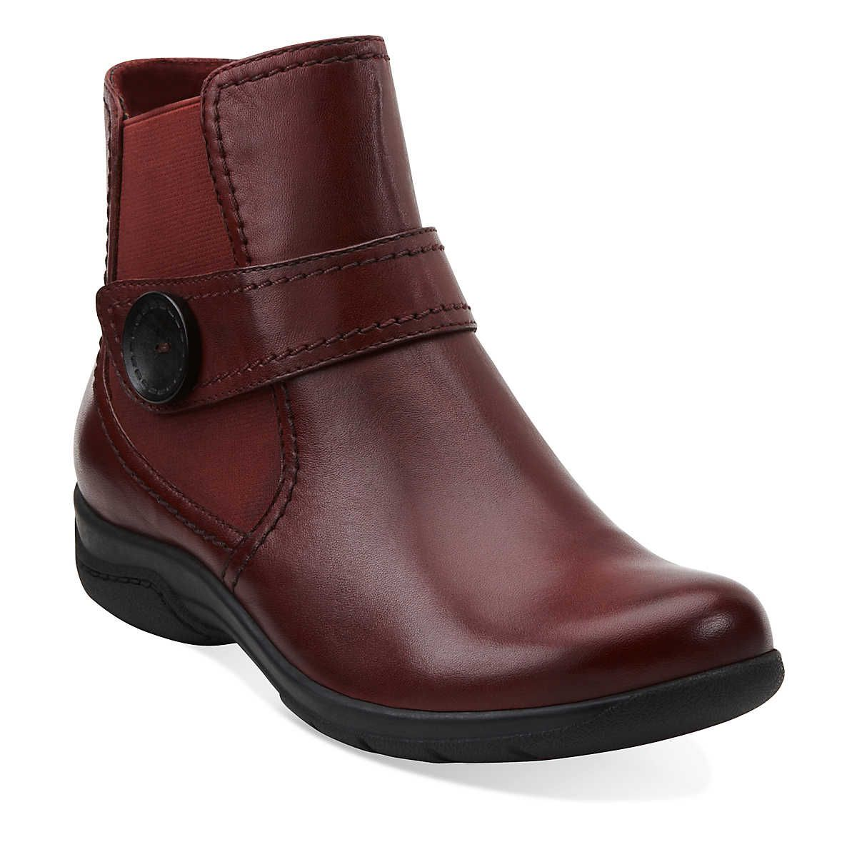 Chris Ava in Red Leather - Womens Boots from Clarks