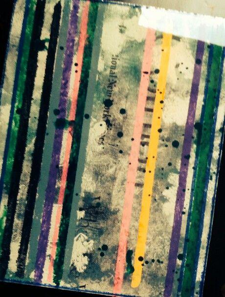 H. Grollo acrilico, collage y resina sobre tabla