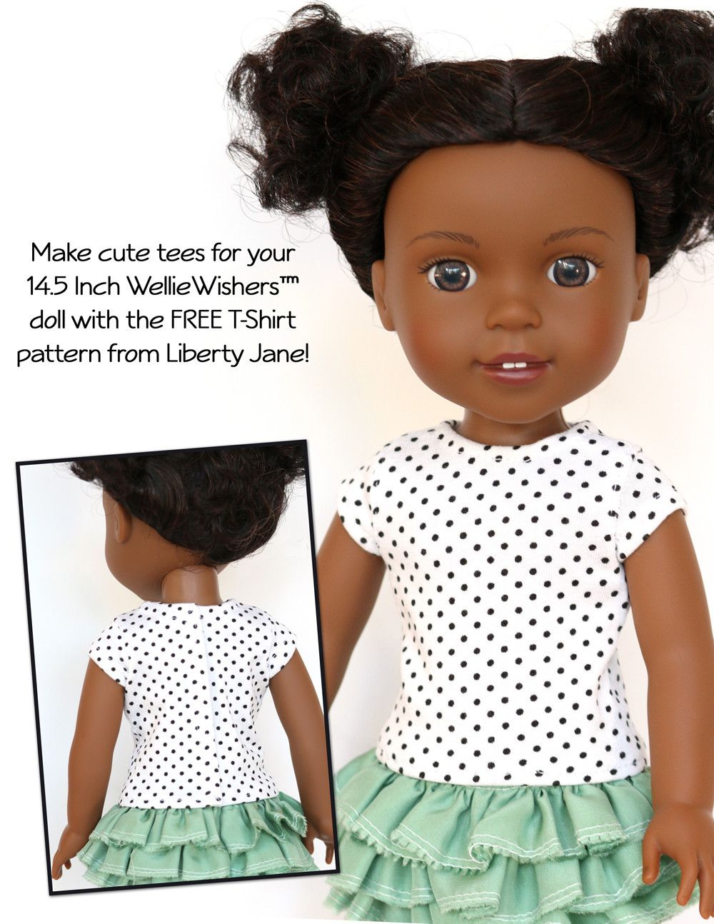 FREE TShirt For WellieWishers Dolls Doll clothes