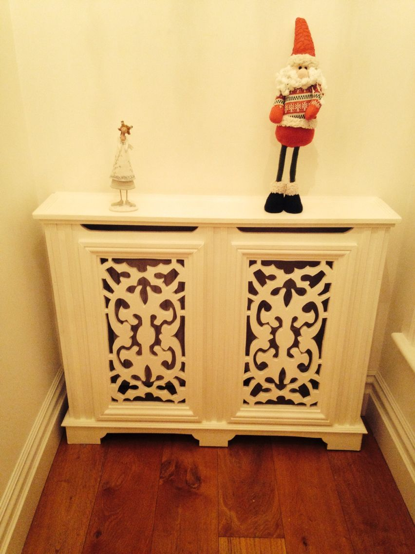 Radiator Cover with 2nd coat of paint on and secured to wall. All ...