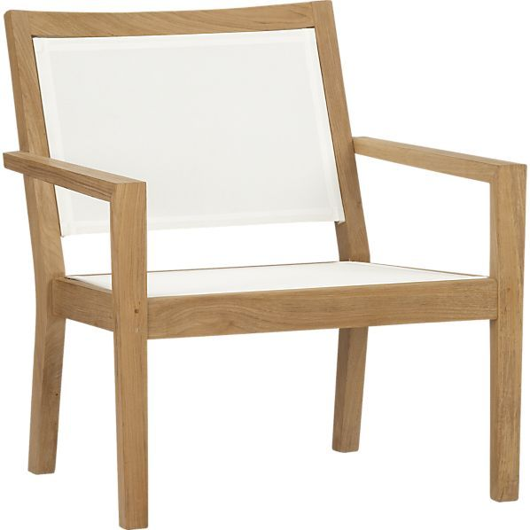 Regatta Mesh Lounge Chair Lounge Chair Outdoor Teak Patio