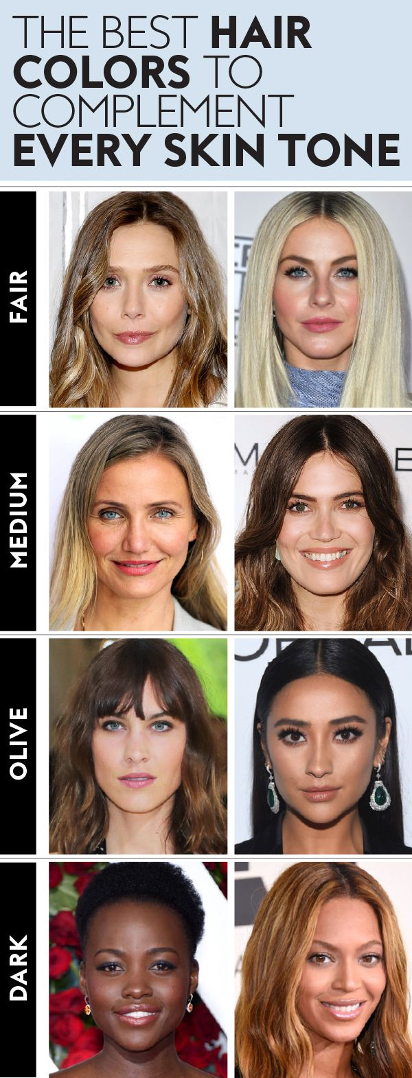 Find The Best Hair Color For Your Skin Tone Not Sure What Shade To Ask Your Colorist For A Skin Tone Hair Color Pale Skin Hair Color Hair Color For