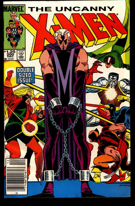 Uncanny X Men 200 1st Fenris Andrea Andreas Von Strucker Wolverine Chris Claremont John Romita Jr Rogue Storm Jean Gray Newstand Marvel Comics Covers Comic Book Covers Comics