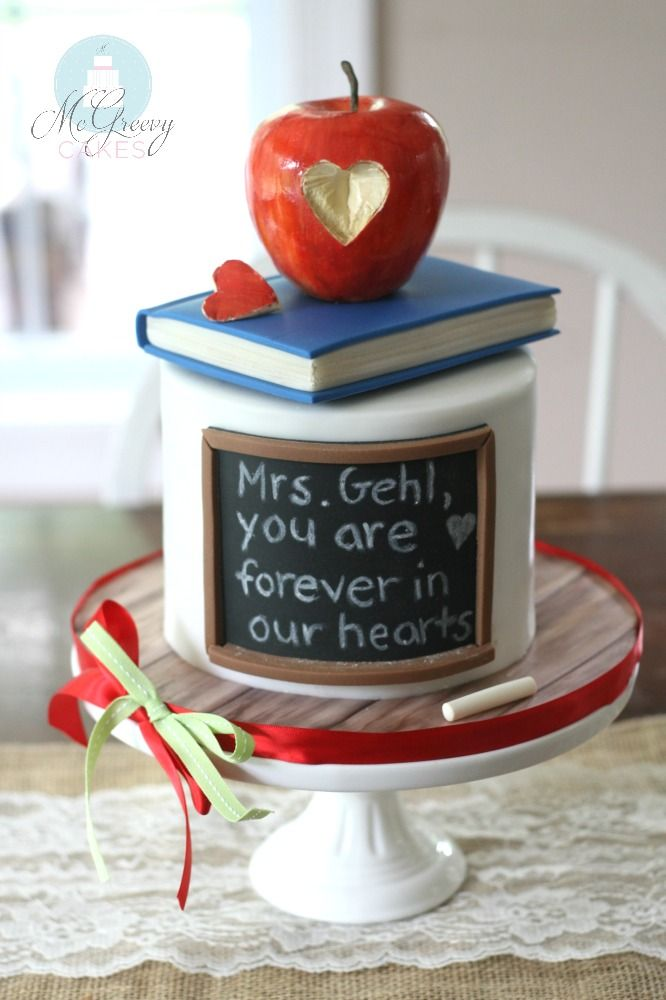GALLERY Teacher Apples and Cake
