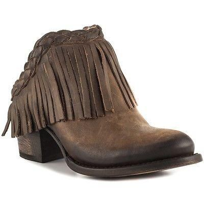c1b196adc4 Freebird By Steven Ladies Lucy Brown Fringe Bootie FB-LUCY-BRN - Wild West  Boot Store - 1