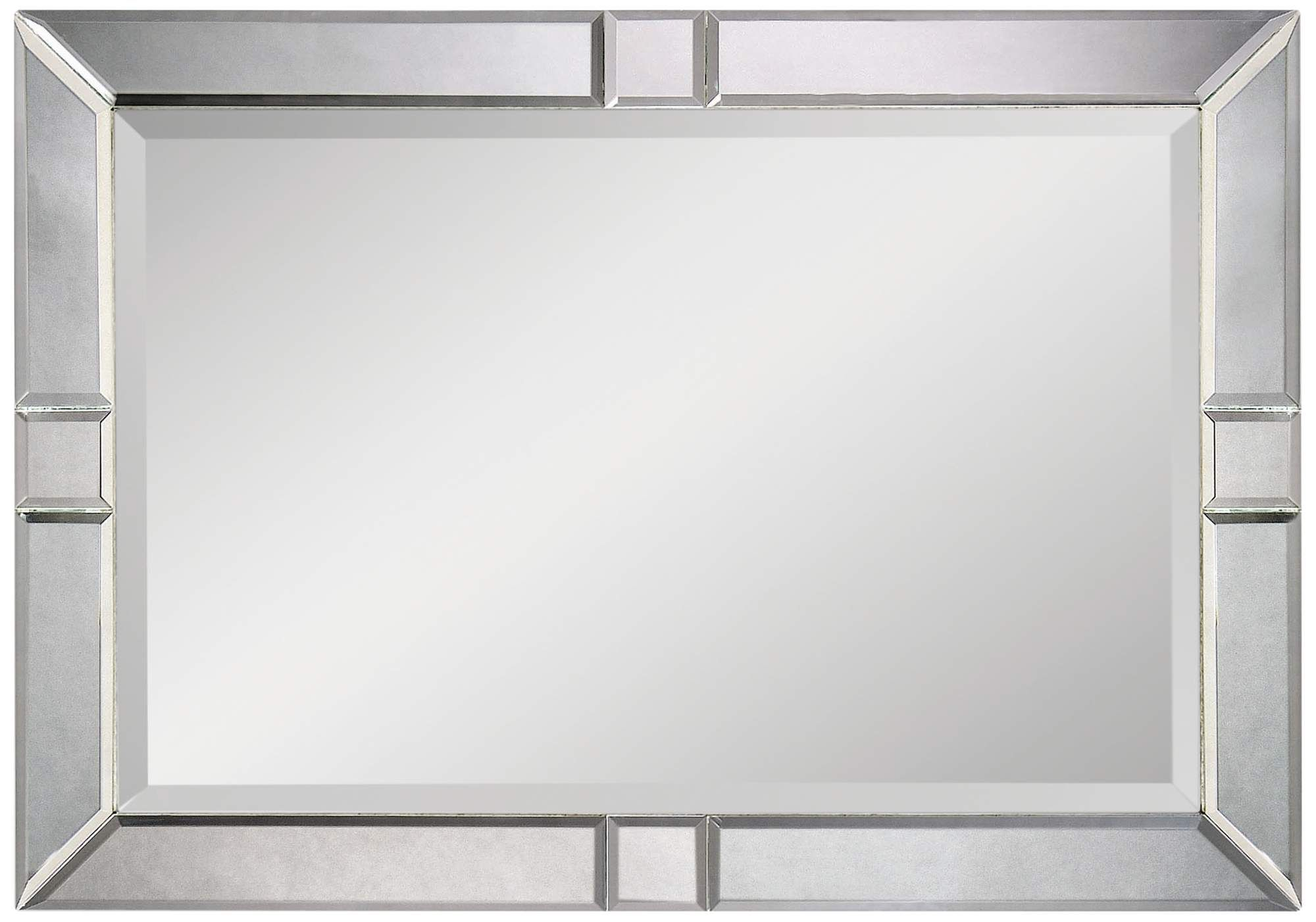 Barbarella Beveled Mirror 42 Inch X 30 Inch Oversized Wall Mirror