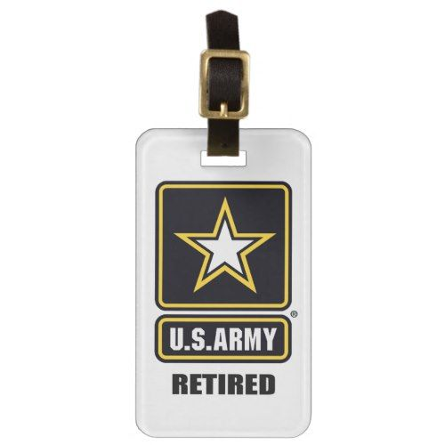 Army Luggage Tag W Leather Strap Luggage Tags Leather Straps Luggage