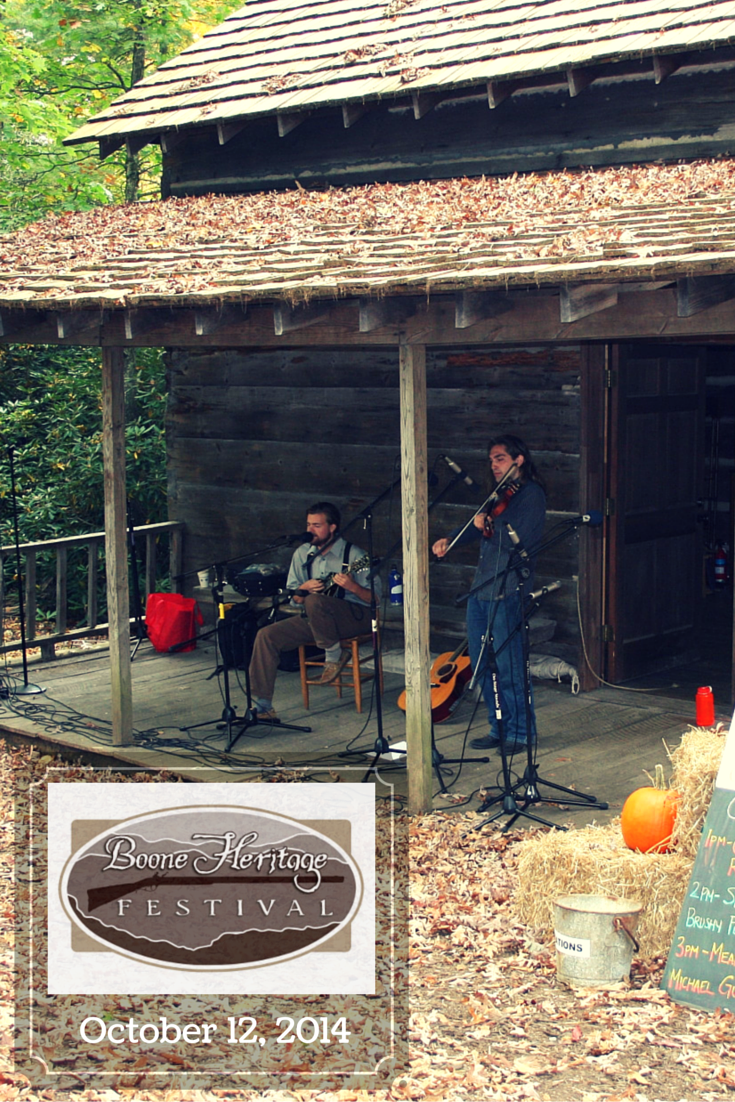 Enjoy the beautiful surroundings of Hickory Ridge Living History Museum while listening to old-time mountain music and storytelling during the Boone Heritage Festival, Sun., Oct. 12, 2014, 10AM - 4PM, at Hickory Ridge Living History Museum. #BooneNC #fall #autumn