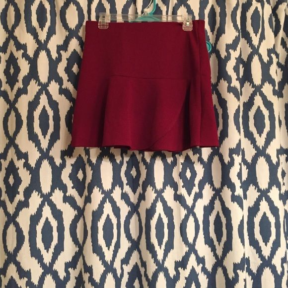 Charlotte Russe Burgundy Skater Skirt Never worn, still has tags. Perfect condition. Make an offer! Charlotte Russe Skirts Circle & Skater