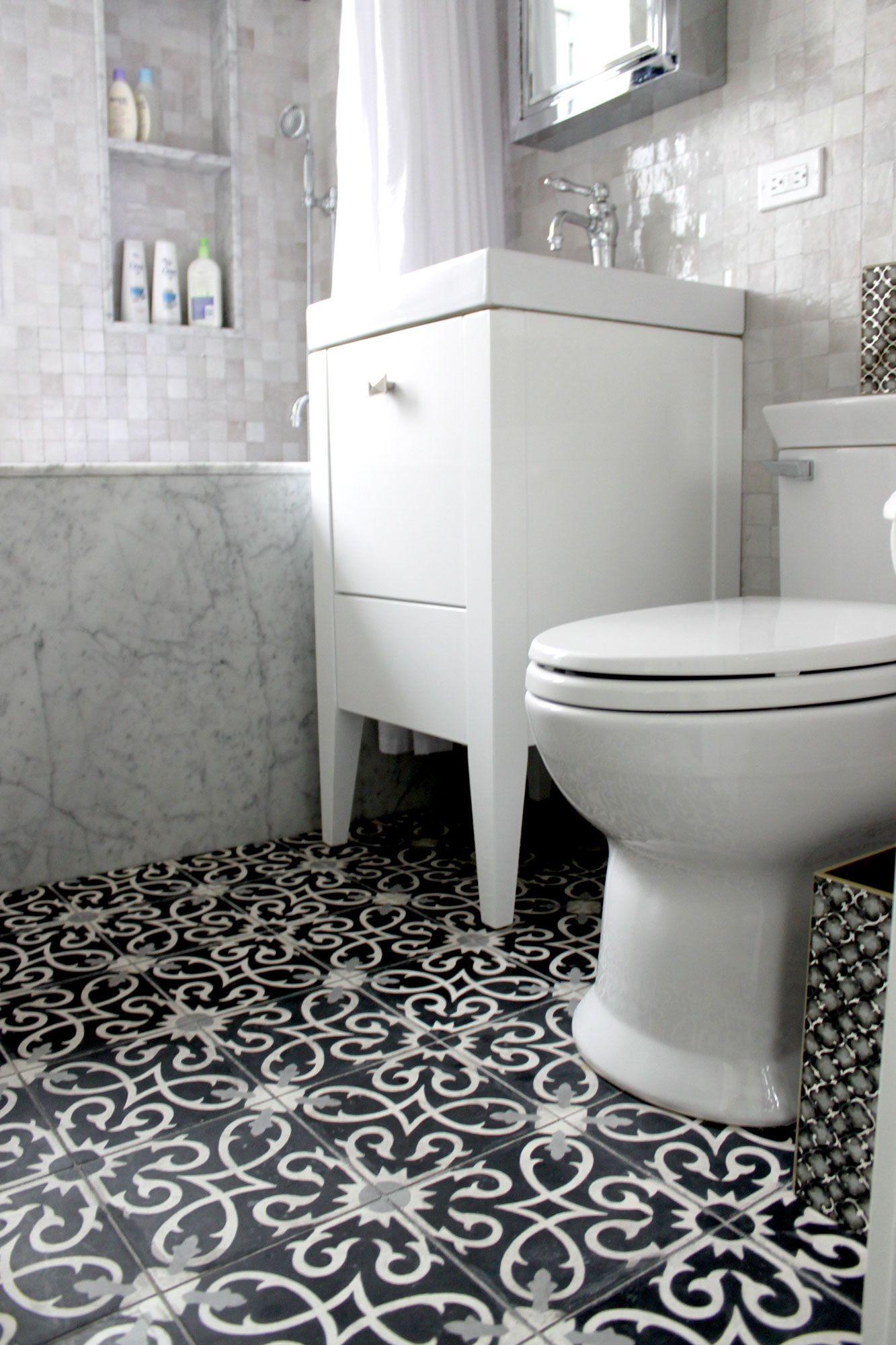 Moroccan Bathroom Tile Guest Bathroom Flooring Wet Room Lucifer C4 14 24 Moroccan