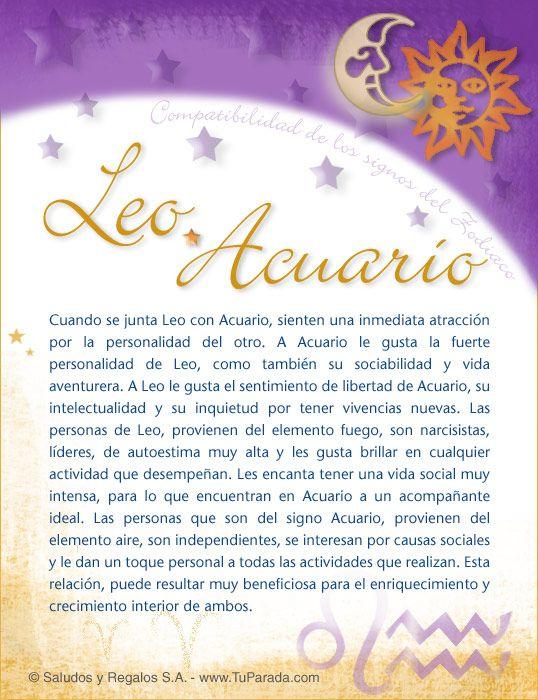 Leo Leo Aries Y Sagitario Piscis Y Acuario Leo Y Acuario