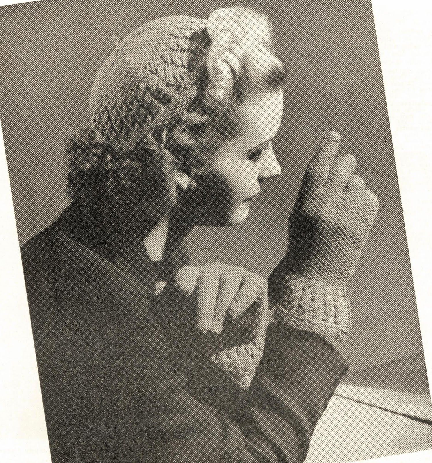 free vintage knitting patterns 1940s hat gloves  5b512a7d697