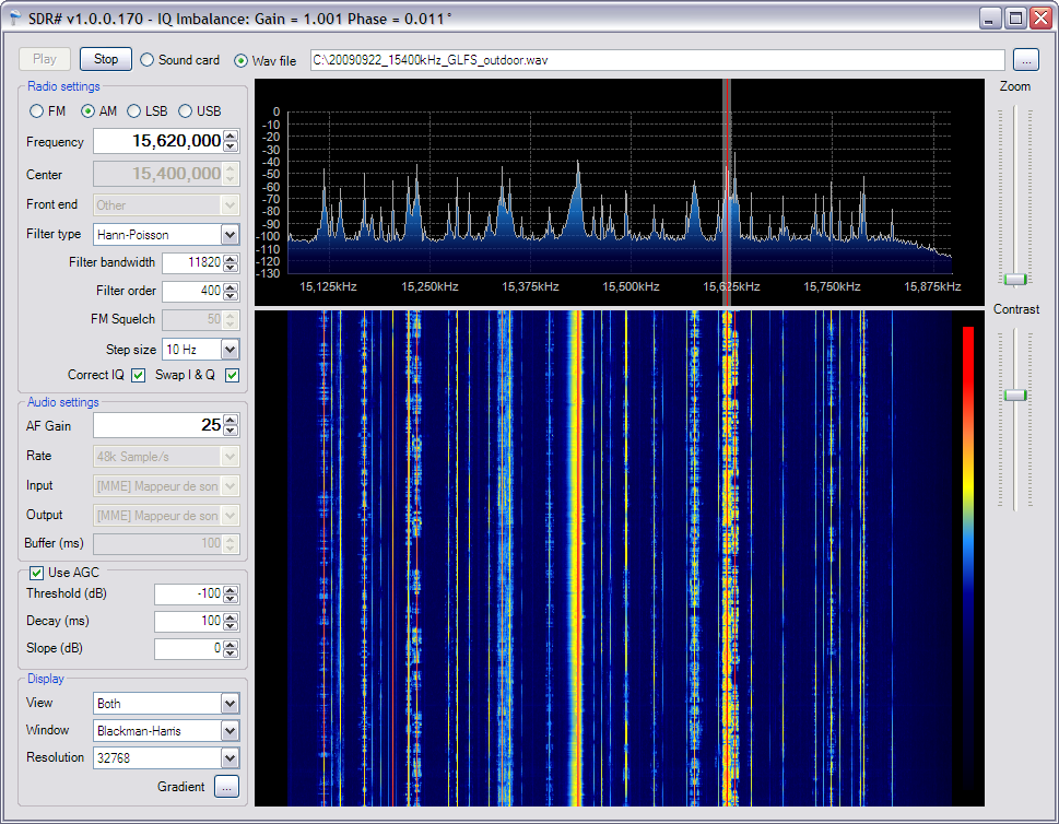 SDR# (read SDR Sharp) is a simple, intuitive, small and fast