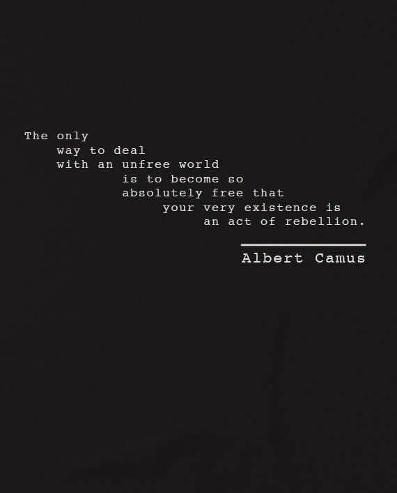 Albert Camus Rebellion T Shirt Philosophy Quotes Deep Philosophy Quotes Thought Provoking Quotes