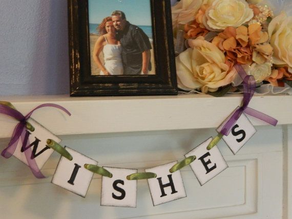 Wedding Wishes Box Suitcase BannerWedding by anyoccasionbanners, $8.50