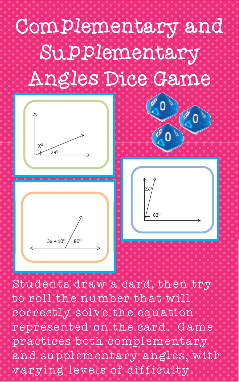 Complementary And Supplementary Angles Activity Unit 4 7th Grade