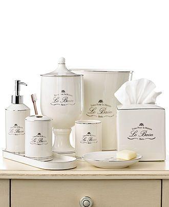 kassatex bath accessories le bain collection bathroom accessories bed bath macys - Bathroom Accessories Vintage