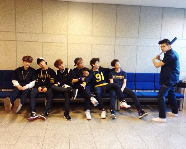 BTS :D (from left to right): Suga, J-Hope, Jin, V, Jimin, Jungkook, and Rap Monster