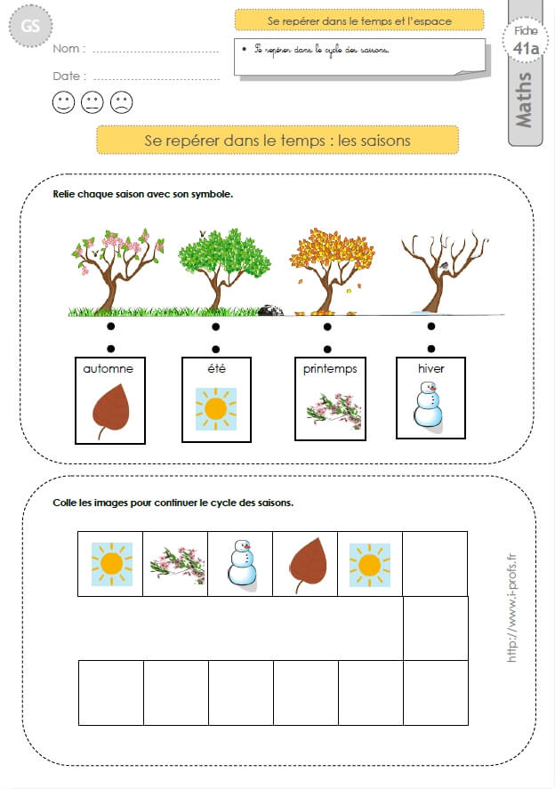 Gs Exercices Mathematiques Images Sequentielles Lles Saisons En Maternelle Grande Maternelle Grande Section Saisons Maternelles Exercices Printemps Maternelle