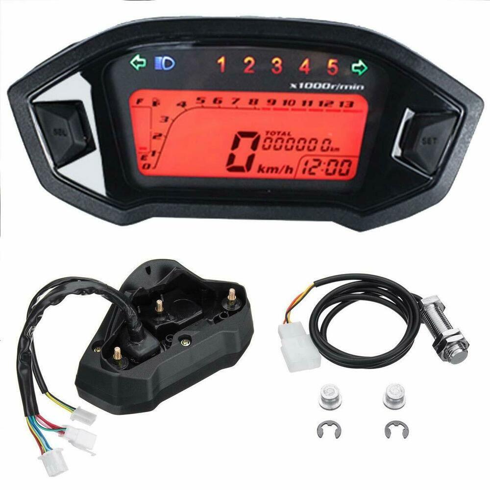 Universal Motorcycle Lcd Digital Speedometer Wiring Diagram