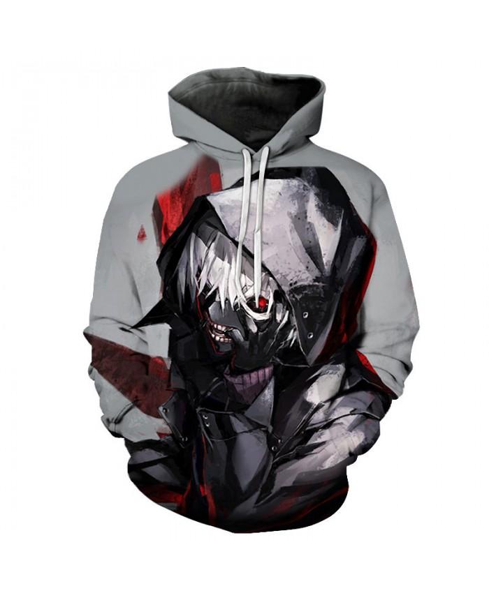 Terror Anime Tokyo Ghoul 3D Hoodies Sweatshirts Halloween