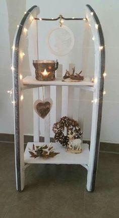 schlitten weihnachtlich dekoriert weihnachten pinterest weihnachtlich dekorieren. Black Bedroom Furniture Sets. Home Design Ideas
