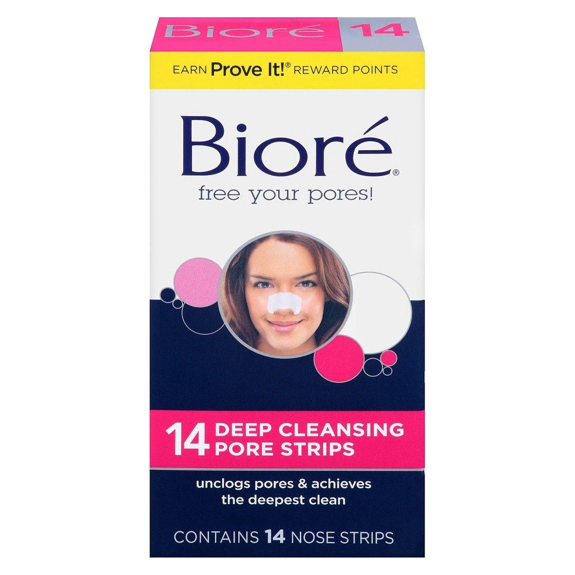 Biore deep cleansing pore strips nose 14ct biore