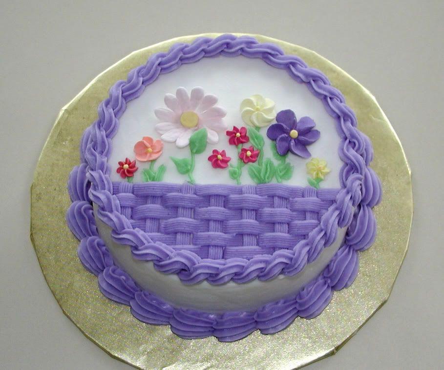 Round cake | Buttercream cake designs, Cake decorating ...
