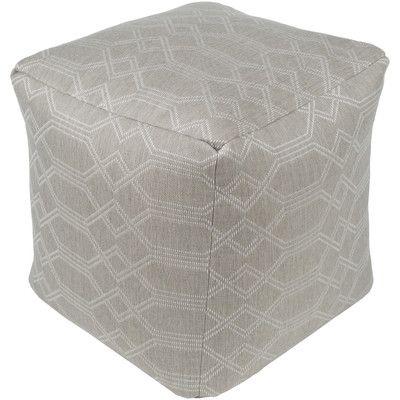 White Pouf Ottoman New Laurel Foundry Modern Farmhouse Moselle Pouf Ottoman Upholstery Design Ideas