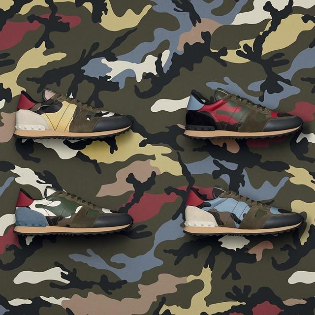 940136685de4 The new Men s Rockrunner Camouflage sneakers  FallWinter2015… By Valentino.