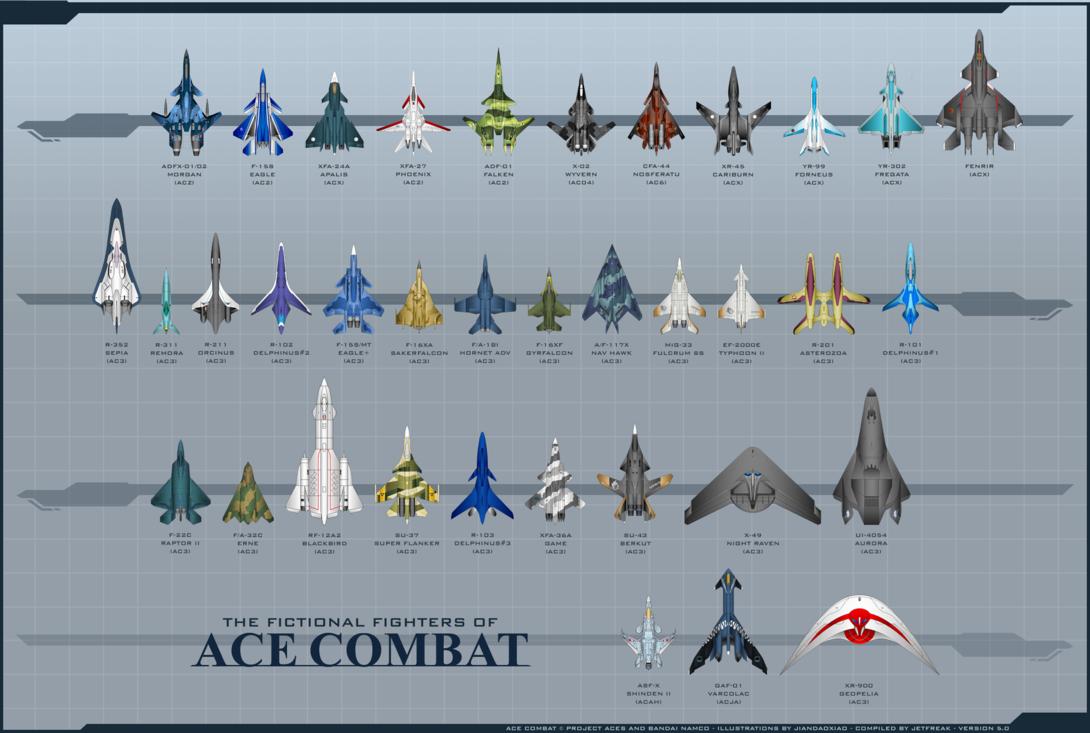 The Fighters of Ace Combat by Jetfreak-7.deviantart.com on ...