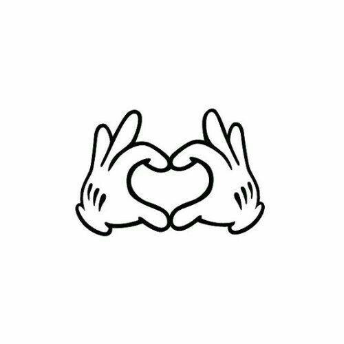Disney Pin Heart Hands: Disney Love Tattoo Idea. Mickey Mouse Heart Hands.