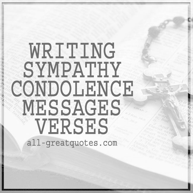 Writing Sympathy Condolence Verses  Condolence Card Message