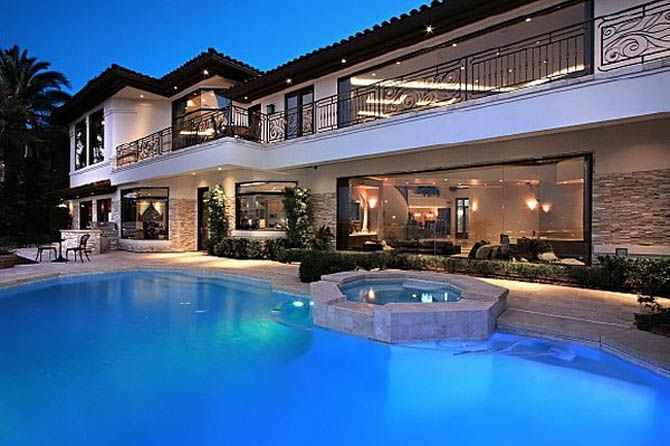 Outdoor House Pools modern outdoor pool design nicolas cage's former house | beautiful