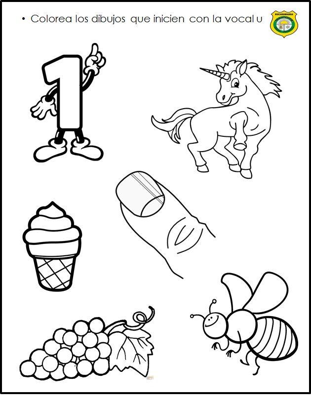 Vocal U Escritura De Ninos Actividades Para Ninos Preescolar Ensenanza De Las Letras