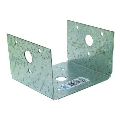 Simpson Strong Tie Zmax Galvanized Half Base Bc40z The Home Depot Galvanized Post And Beam Wood