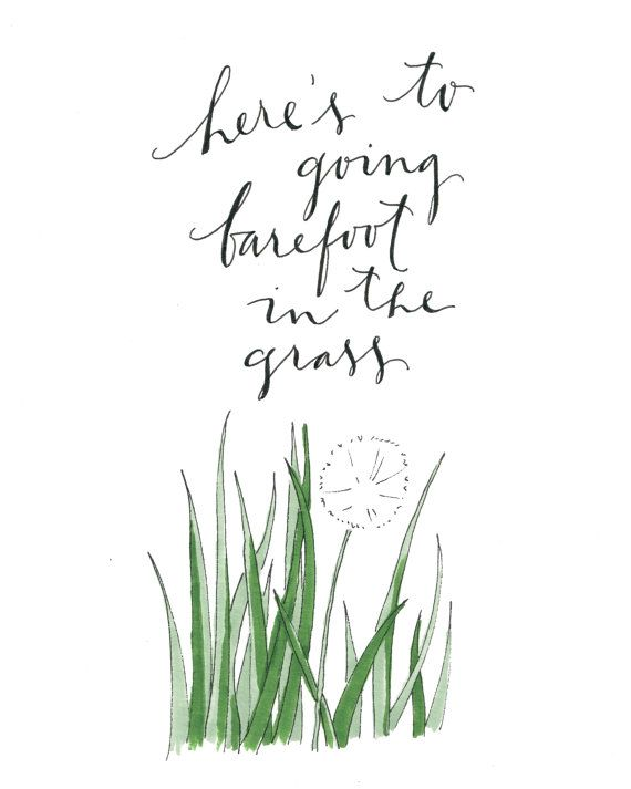 graphic relating to Grass Printable named Barefoot within the Gr Printable Nothin Including Barefootin
