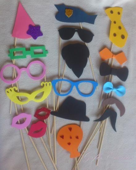 Atrezzo Bigotes Y Gafas Para Photocall Goma Eva
