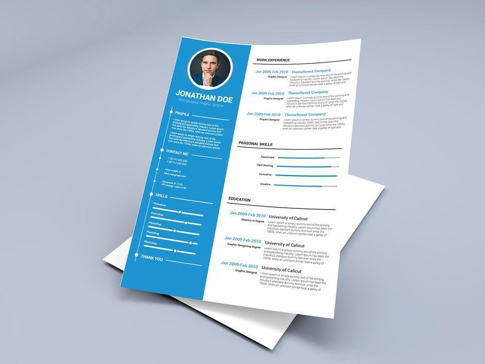 Free Timeline Cv Template With Blue Color Scheme Resume Template Word Resume Template Free Resume Templates