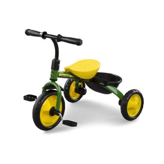 John Deere Steel Tricycle (Green) - www.greentoysandmore.com