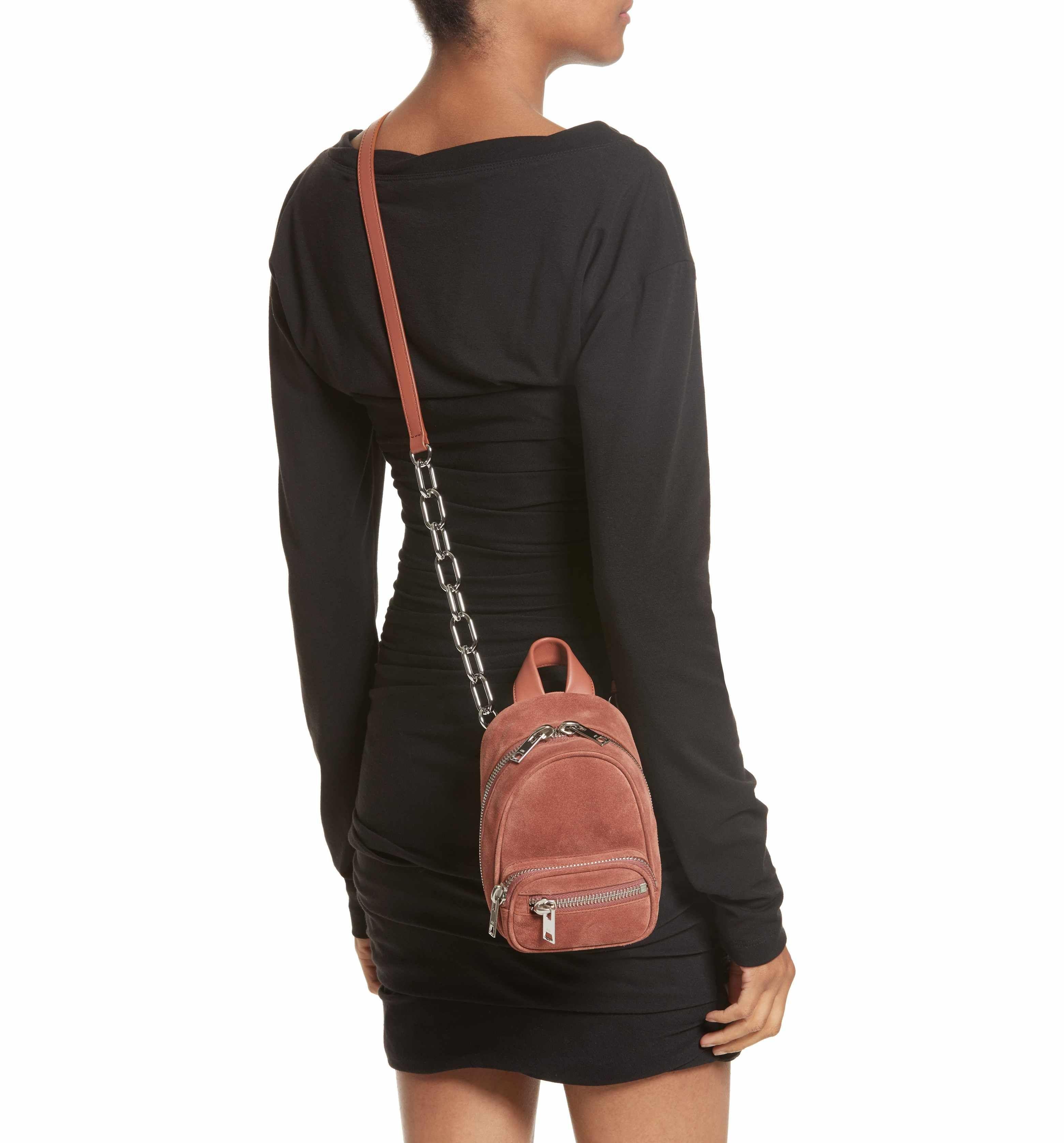 d0f590ccd8 Main Image - Alexander Wang Mini Attica Suede Backpack-Shaped Crossbody Bag