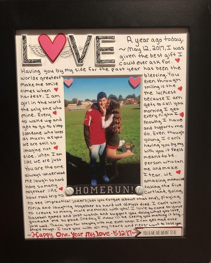 Pinterest Blog Boyfriend Gifts Boyfriend Anniversary Gifts Diy Anniversary Gift