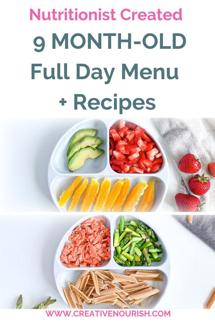 9 Month Old Meal Plan - Nutritionist Approved | Baby food ...