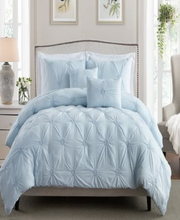 Cathay Home Inc Floral Pintuck Twin Twin Xl Comforter Set