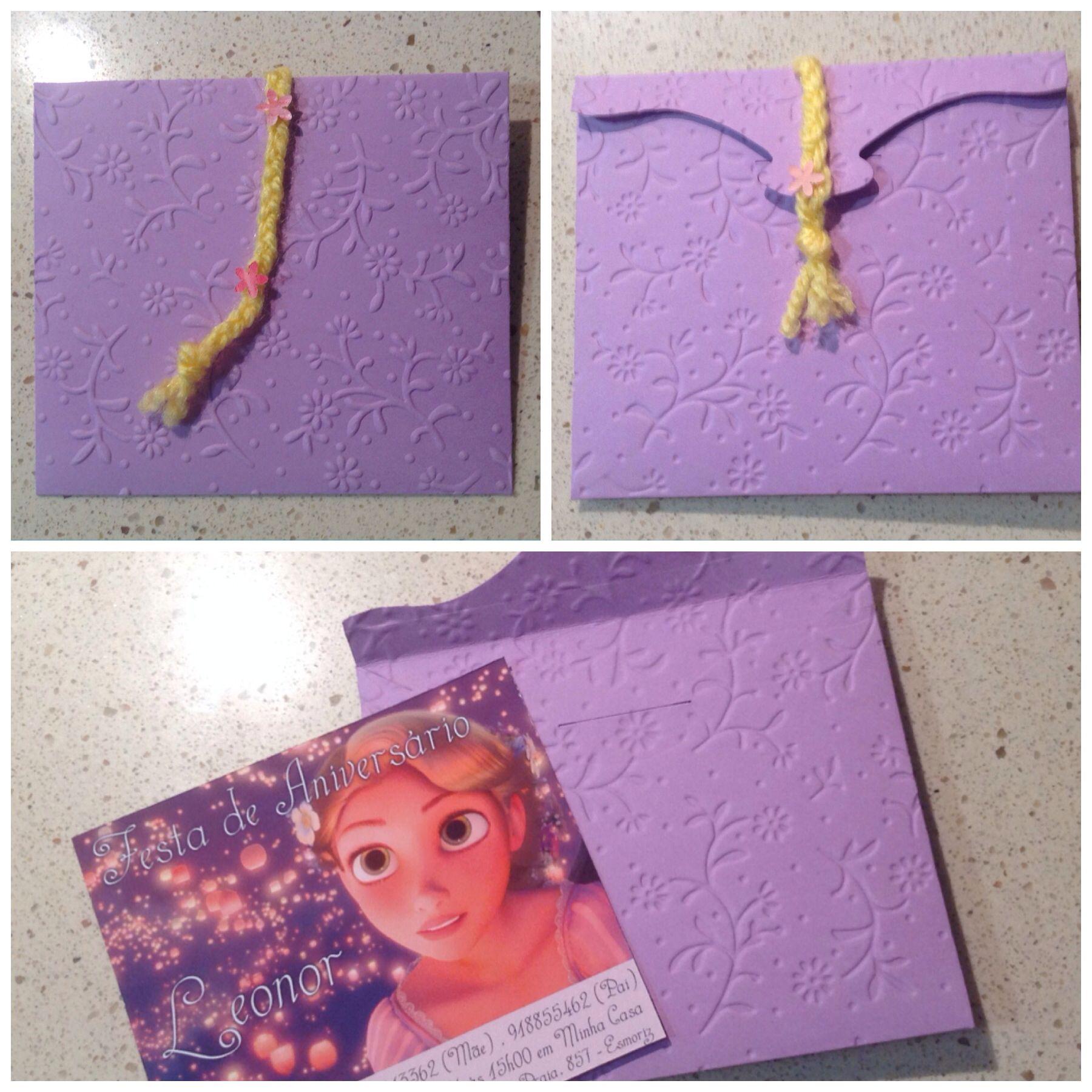 Festa da Rapunzel... Os convites!