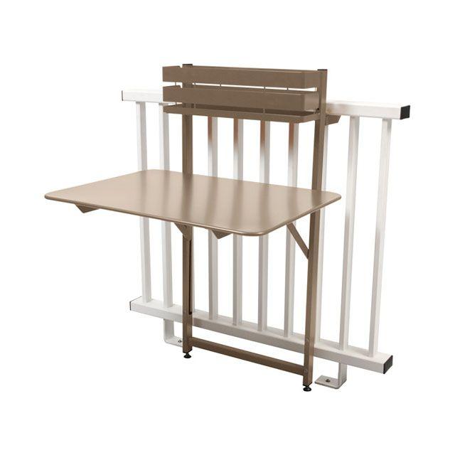 Table De Balcon En Metal Bistro Muscade Table Pliante Balcon Table Pliante Table De Balcon